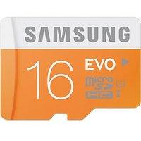 Samsung EVO 16 GB Class 10 MicroSDHC Flash Memoery Card With SD Adapter