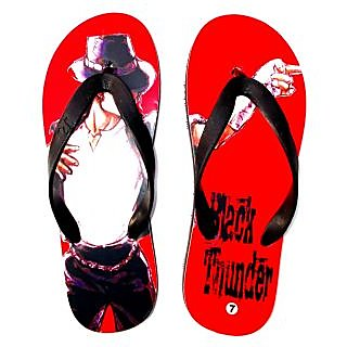 BLACK THUNDER  ( RED ) FLIP FLOP FOR MEN
