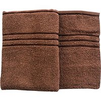 Trident Everyday Hand Towel(Set Of 2)-Coconut Shell