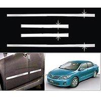 Car Steel Chrome Side Beading For Toyota Corolla Altis