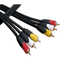 2m 3rca To 3rca Pvc Video AV Cable Red/yellow/white