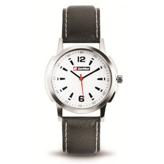 Lotto Round White Dial Watch