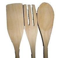 Premium Wooden Ladles (Set Of 3)