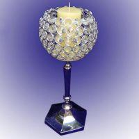 Crystal Candle Holder Blue