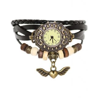Artzz Black Leather Casual Watch