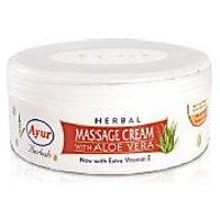 Ayur HERBAL MASSAGE CREAM With Aloe Vera 500gm Pack Of 2