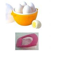 Combo Of Egg Boiler And Egg Cutter