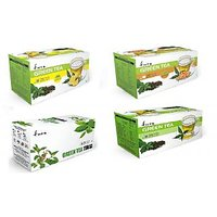 Green Tea, Green Tea Tulsi, Green Tea Ginger, Green Tea Lemon 100 Tea Bags /4box