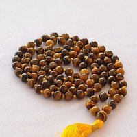 Tiger Eye Mala (108+1 Beads) 8 MM
