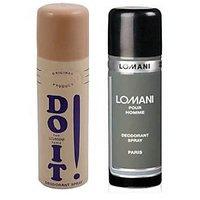 Combo Of 2 Lomani (Do It, Pour Homme) Deodorant Men 200ml - 72290390