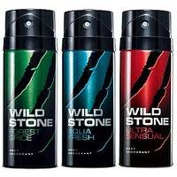 Wild Stone Forest Spice, Aqua Fresh, Ultra Sensual Deodorants 150ml (for Men)