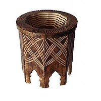 Mavi Solidwood Mango Fruit Wood Basket-MFB-113