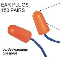 Ear Plug Hearing Protection, Branded, Superior Comfort (Pack Of 150 Pairs)