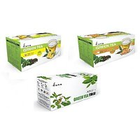 Green Tea Lemon, Green Tea Ginger, Green Tea Tulsi- 75 Tea Bags/ 3 Boxes