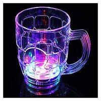 Color Changing Flashing LED Light Shot Pineapple Beer Wine Bar Party Glass Mug