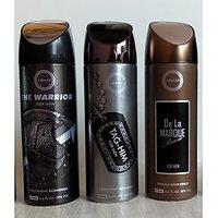 Combo Of Armaf Deodorants (Deo) For Men The Warrior + Tag Him + De La Marque