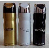 Set Of 3 Baug Sons Deodorants (Deo) For Men Creation Gold + White + Black 200 Ml Each