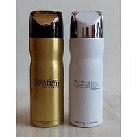 Set Of 2 Baug Sons Deodorants (Deo) Creation Gold + Pour Homme For Men 200 Ml Each