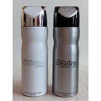 Set Of 2 Baug Sons Deodorants (Deo) Creation Homme + Intense Noir For Men 200 Ml Each