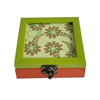 Bodhitree Green And Orange Multi Purpose Box