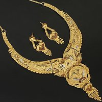 Beautiful 1 Gram Gold Plated Necklace With Earring