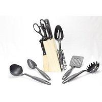18 Pcs Knife Set (Black)