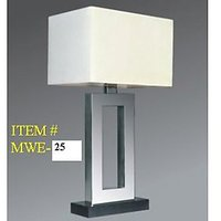 Modern Table Lamp With Beige Shade In Matt Finish