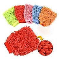 Microfiber Dusting Cleaning Glove For Cars & Bikes Home Office Kitchen Set Of 2
