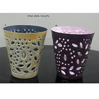 2 Pieces/set Metal Block Decoration Votive Candle Holder For Home Decoration.