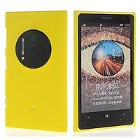 Pre Matte Rubberized Finish Hard Case For Nokia Lumia 1020-Yellow
