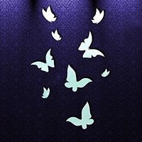 Se110 Home Decoration Butterfly Pattern Acrylic Mirror Wall Decal