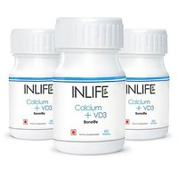 INLIFE Calcium + Vitamin D3 Tablets (3-Pack)