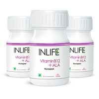 INLIFE Vitamin B12 + ALA Tablets (3-Pack)