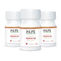 INLIFE Vitamin D3 2000 IU Capsules(3-Pack)