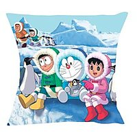 Moneysaver Doraemon And Frends In Antartica (16X16) Cushions Cover (Pack Of 1) CC00668