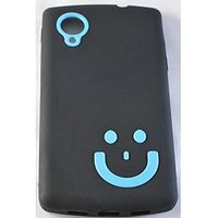 New Designer Smiley TPU Silicone Back Case For LG Google Nexus 5 D820 BK-BL
