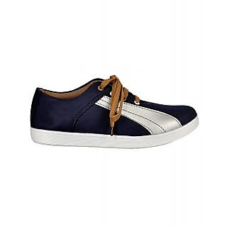 Kool Jones Mens Blue Canvas Casual Shoes (KISN032)