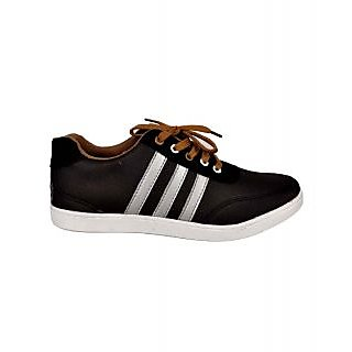 Kool Jones Mens Black Canvas Casual Shoes (KISN042)