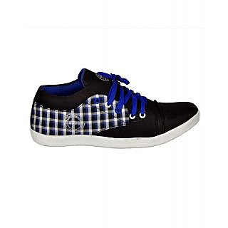 Kool Jones Mens Black Canvas Casual Shoes (KISN052)