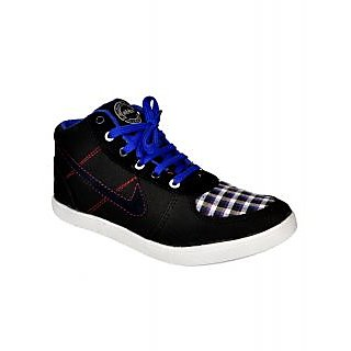 Kool Jones Mens Black Canvas Casual Shoes (KISN059)
