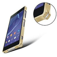 HIGH QUALITY METAL BUMPER CASE COVER FOR SONY XPERIA Z3 - GOLDEN