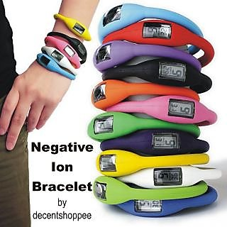 Imported Negative Ion Bracelet / Wrist Watch For All - Silicon Made