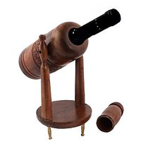 Wooden Handcrafted / Carved Wine Bottle Container / Holder