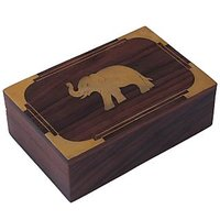 Crafts'man Beautiful Carving On Wood Handmade Jewellery Box