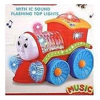 Flashing Light Train With LED Lights, Music & Rotation