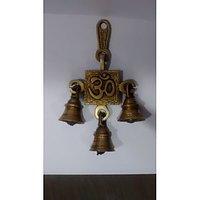 Brass Door Wall Hanging Bells With OM