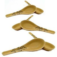 Spoon - Soup Spoon - Floral Designed  Soup Spoon - Dinnerware - Set Of 6