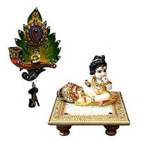 Bajya Combo Of Laddu Gopal Chowki Key Holder