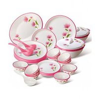Round Dinner Set  In Pink Colour