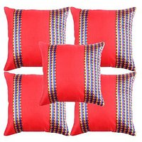 Madhavs Poly Cotton Cushion Covers(Set Of 5)